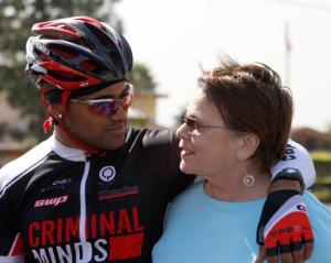 Shemar and Mom bike ms